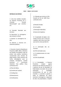 SOS História - República da Espada e Oligárquica