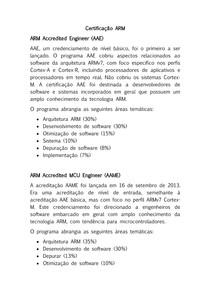Certificação ARM