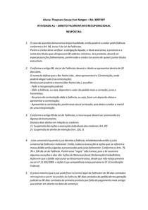ATIVIDADE A1 DIREITO FALIMENTAR E RECUPERACIONAL