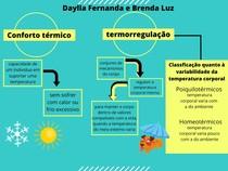 mapa conceitual termorregulação e conforto térmico