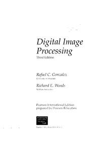 PROCESSAMENTO DIGITAL DE IMAGENS - R.GONZALES (INGLÊS)
