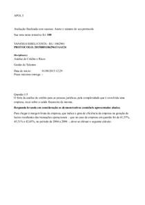 APOL 3 - 100% Gestão de Talentos e Analise de Crédito