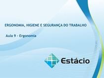 Aula_09_Ergonomia e Segurança do Trabalho