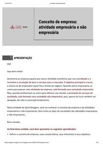 CONCEITO DE EMPRESA ATIVIDADE EMPRESÁRIA E NÃO EMPRESÁRIA