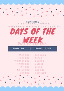 Dias da Semana em Inglês (aprenda de vez!)