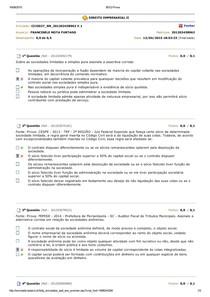 DIREITO EMPRESARIAL II Banco de questões av2 av3 avaliando aprendizado