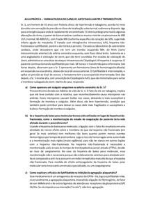 Estudo de Caso clínico - Anticoagulantes e Trombolíticos