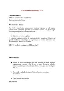 Carcinoma Espinocelular - Resumo Patologia