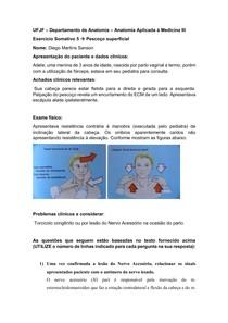 Caso Clínico: Anatomia Pescoço Superficial
