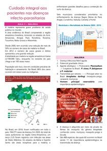 AULA 3 - CUIDADO INTEGRAL AOS PACIENTES NAS DOENÇAS INFECTO-PARASITÁRIAS (malária)