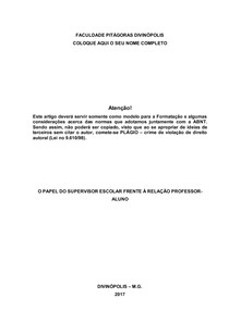 Modelo De Capa Do Artigo Científico Metodologia Científica
