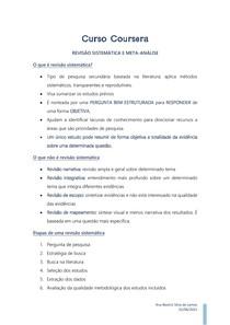 CURSO COURSERA - Revisão Sistemática