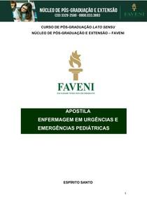 ENFERMAGEM EM URGÊNCIAS E EMERGÊNCIAS PEDIÁTRICAS 1
