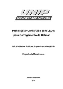DP APS Painel Solar Construído com LED's para Carregamento de Celular