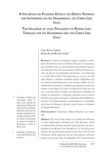 Estoicismo e o Direito