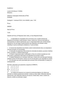 Prova 2 Sistemas e aplicações distribuídas Uniasselvi