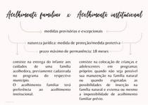 MAPA MENTAL - Acolhimento familiar e institucional
