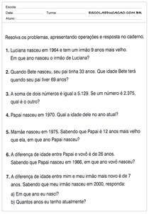 Atividades De Matematica 5 Ano Problemas Matematicos Matematica
