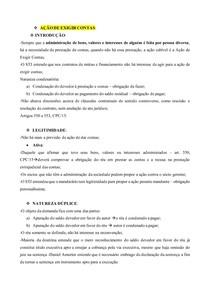 AÇOES ESPECIAIS- AÇÃO DE EXIGIR CONTAS