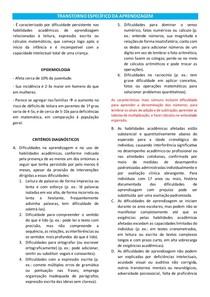 TRANSTORNO ESPECÍFICO DA APRENDIZAGEM