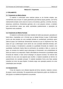 Processos de Conformação e Usinagem(Unip) - Modulo 3 - Forjamento