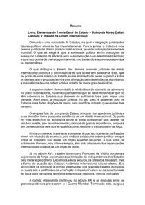 Elementos de Teoria Geral do Estado Dalmo de Abreu Dallari - ESTADO NA ORDEM INTERNACIONAL CAP 05