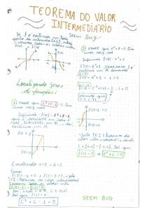 Cálculo 1_ Teorema do valor intermediário, teorema do valor médio, teorema do rolle, exercícios resolvido do teorema do valor médio, f é derivavel