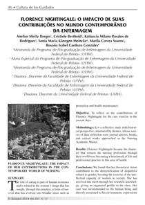 FLORENCE NIGHTINGALE: O IMPACTO DE SUAS CONTRIBUIÇÕES NO MUNDO CONTEMPORÂNEO DA ENFERMAGEM