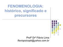 Aula 1 Fenomenologia Historico E Precursores Fenomenologia