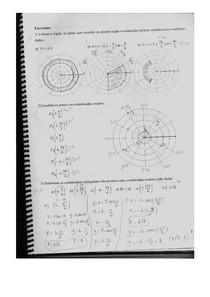 Respostas Exercícios Coordenadas Polares - Polígrafo 2015