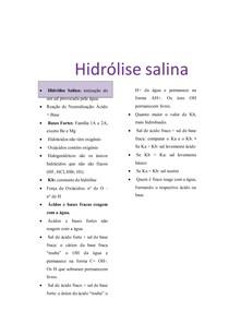 Hidrólise salina