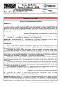 CCJ0009-WL-AV1-Teoria e Prática da Narrativa Jurídica -Trabalho-01 para AV1 (24-08-2012)