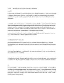 TITULO HISTÓRICO DA EDUCAÇÃO A DISTÂNCIA NO BRASIL
