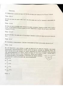 Resolução de problemas de HIDRODINÂMICA  Mec. Fluídos pdf