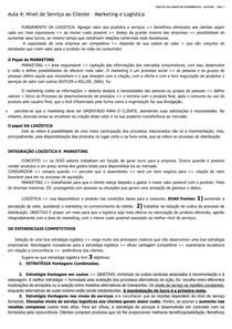 GESTÃO CADEIA DE SUPRIMENTOS- GST0189 - AULAS 4 E 5- ESTACIO EAD