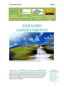 1º Boletim de Geração de Energia Elétrica