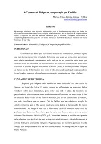 teorema de pitagora- comprovação por Euclides