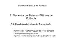 SEP 1   Cap 3 item 3.1.5   Modelos de Linhas