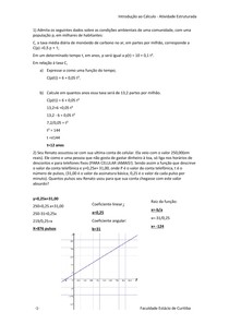 trabalho de Introdução ao calculo