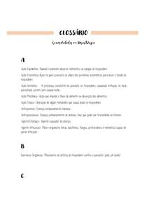 GLOSSÁRIO Parasitologia