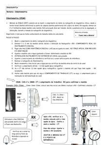 Roteiro e Passo a Passo - Odontometria