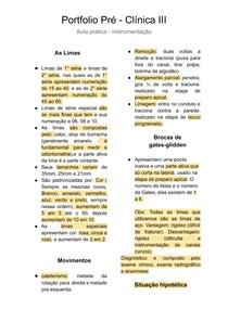 Pré - Clínica III Aula prática - Instrumentação