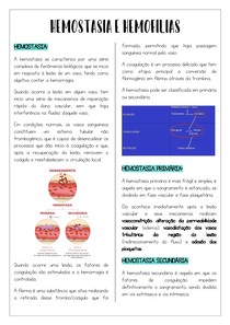 Hemostasia e Hemofilias