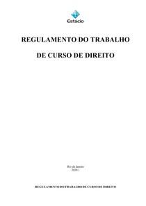 REGULAMENTO DE TCC. DIREITO.2020.1