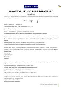 Geometria e Polaridade 2 - lista de exercícios (Prof Brasil)