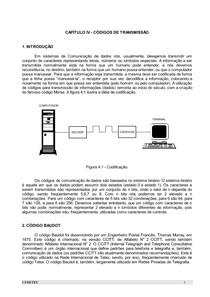 CAPÍTULO 4 - CÓDIGOS DE TRANSMISSÃO