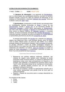 LITERATURA DE INFORMAÇÃO E BARROCO