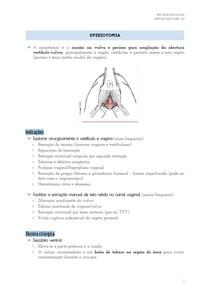 Episiotomia, Prolapso e Hiperplasia Vaginal