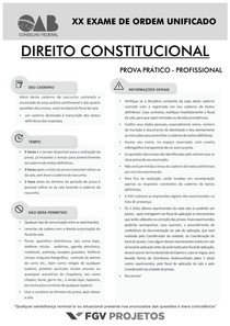 XX Exame Direito Constitucional   SEGUNDA FASE