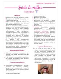Aula 7 - Saúde da mulher - Vulvovaginites